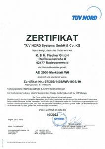 Zertifikat AD 2000 Merkblatt-W0