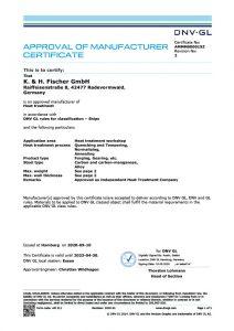 Zertifikat DNV-GL